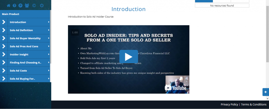 Solo Ad Insider Members Area